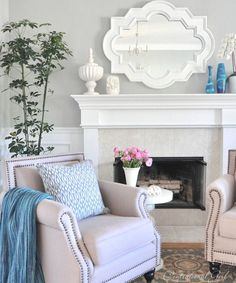 LIVING ROOM COLOR IDEAS - Bringing Spring into the Living Room