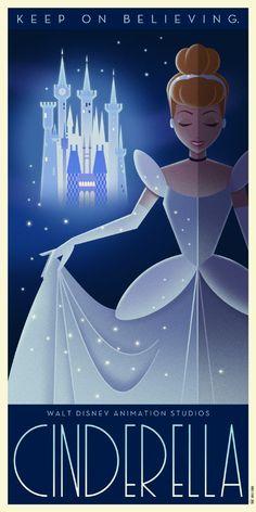 Plakatkunst im Art Deco-Stil für klassische Disney-Animationsfilme - DISNEY, PIXAR and a little bit Dreamworks and No. Disney Pixar, Disney Amor, Disney E Dreamworks, Deco Disney, Bambi Disney, Disney Love, Disney Magic, Disney Films, Disney Maleficent