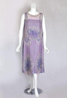 Beaded chiffon flapper dress, c.1925