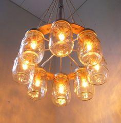 Mason jar lighting.