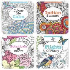 More FABULOUS colouring books for grown ups. Love how these are all about RELAXING! Wonderful way to unwind and let your mind wander!