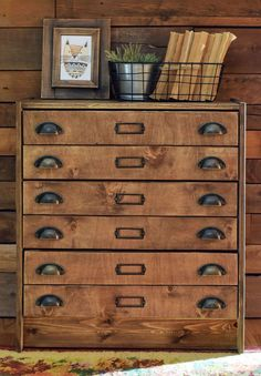 Apothecary cabinet from RAST chest of drawers - two drawer panels for each dresser drawer