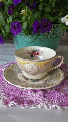 Royal Doulton Antique Cup and Saucer Set Beautiful Gossamer-Over 100 yrs. Old!