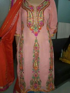 Colors & Crafts Boutique™ offers unique apparel and jewelry to women who value versatility, style and comfort. For inquiries: Call/Text/Whatsapp Embroidery Suits Punjabi, Embroidery Suits Design, Embroidery Dress, Punjabi Suits Designer Boutique, Boutique Suits, Punjabi Salwar Suits, Punjabi Dress, Indian Suits, Indian Wear