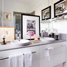 personalize my vanity with framed photo or art, in addition to tray of cosmetics and perfumes