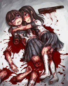 Jakby co (Sry, że po polsku, ale wena to dzifka) dotyczy to teorii historii 0- miałą lalkę, a starszy pan, który zabił jej rodziców, urwał jej nogi. 0 zrozpaczona, nie mogła się pogodzić ze stratę małej przyjaciółki. Wiedząc, że ma on małą córkę podobną do jej lalki, poszła do jego domu. Tam, dziewczyna przyszła z tym samym tasakiem, którym od dokonał zbrodni. Poszła do jej pokoju. *RANO* Mężczyzna przyszedł do jej pokoju i zastał ten obraz.