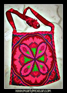 Mainly Mexican - Antiques & Collectibles, Folk Art & Fine Art - MAINLY-MEXICAN's Photos - hand made bags made and carried by Huichol men - these are old and part of a private collection - for more of Mexico visit www.mainlymexican.com #Mexico #Mexican #Huichol