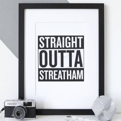 Personalised 'Straight Outta Compton' Hometown Print - gifts for men Movie Prints, Poster Prints, Framed Prints, Straight Outta Compton, Gift For Music Lover, Music Gifts, Typography Prints, Live In The Now, New Home Gifts
