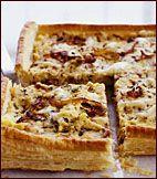 Caramelized Onion and Polenta Tart // Food & Wine
