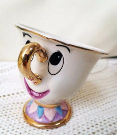 Cartoon Beauty And The Beast Teapot Mug Mrs Potts Chip Tea Pot Cup 2PCS One Set