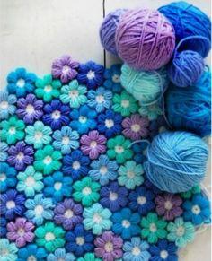 Crochet Puffy Flower Free Pattern