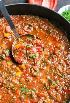 This Paleo Stuffed Pepper Soup is easy to make and so hearty. All the flavors of a stuffed pepper in soup form. Gluten free, dairy free, and low FODMAP. Made in the Instant Pot or on the stove top. Updated September 2018 by adding photos without Paleo Soup, Healthy Soup, Healthy Chili, Whole 30 Diet, Paleo Whole 30, Whole 30 Soup, Whole 30 Lunch, Crock Pot Recipes, Whole 30 Recipes