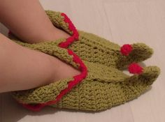 Ravelry: Elf Slippers with Curled Toes pattern by Thomasina Cummings