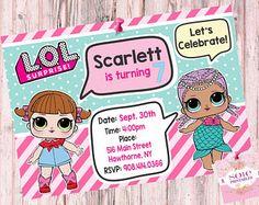 L.O.L Surprise Theme: – Birthday Invitation!