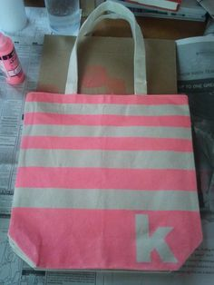 Decorating the Dorchester Way: Bridesmaid Canvas Tote Bag!