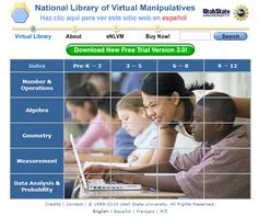 National Library of Virtual Manipulatives nlvm.edu/ A digital library containing Java applets and activities for mathematics. Math Sites, Teacher Resources, Kids Sites, Homeschooling Resources, Homeschool Math, School Resources, Flipped Classroom, Math Classroom, Classroom Ideas
