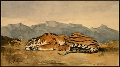Eugene Delacroix / Tiger