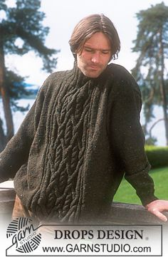 DROPS Men's sweater - free pattern