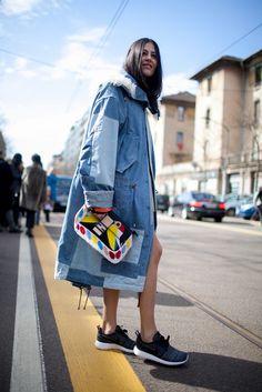 They Are Wearing: Milan Fashion Week Fall 2015   WWD:Photo by Kuba Dabrowski