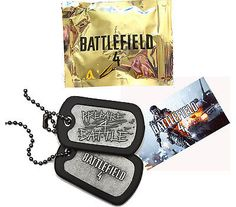 Battlefield 4 Limited Promo Dog Tags & DLC Code New Rare