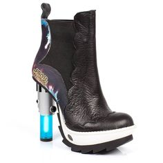 A shoe with a light-up lightsaber heel. The future really is a beautiful place. Irregular Choice made these Star Wars shoes so our technological dreams could come true. Thank you, Irregular Choice! Platform Boots, High Heel Boots, Shoes Heels Boots, Heeled Boots, High Heels, Ankle Boots, Crazy Shoes, Me Too Shoes, Shopping