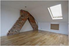 Bare brick chimney is fantastic