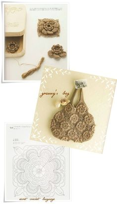 "Pattern for rose ""granny's bag"""