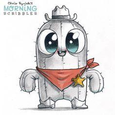 Chris Ryniak is creating Friendly Monster Drawings! Cute Monsters Drawings, Funny Drawings, Kawaii Drawings, Disney Drawings, Animal Drawings, Easy Drawings, Cute Sketches, Art Drawings Sketches, Sketch Art