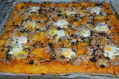 Mi Diversión en la cocina: Pizza con camagrocs y huevos de codorniz