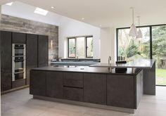 An impressive ALNOSTAR CERA kitchen design in Oxide Nero.