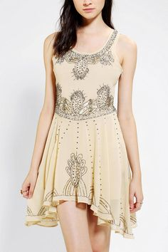 Pins And Needles Embellished Chiffon Skater Dress #urbanoutfitters