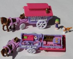 Polly Pocket -1995 Circus Wagon on the Go - Out 'n About aka Polly's Gypsy Caravan (Tiny World)