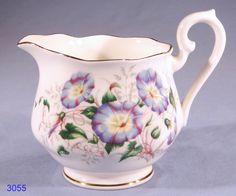 morning glory porcelain | Royal Albert Friendship Morning Glory Bone China Milk Jug / Cream Jug ...