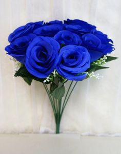 Sweet Home Deco 14 One Dozen Sweet Roses Silk Artificial Bouquet Blue 12 Stem12 Flower Headsvalentines Dayweddinghome Decorations Blue >>> Find out more about the great product at the image link.