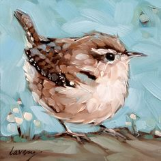 Wren painting, inch original impressionistic oil painting of a Wren. Bird paintings, paintings of birds Small Paintings, Animal Paintings, Bird Paintings, Painting Flowers, Watercolor Bird, Watercolor Paintings, Bel Art, Bird Drawings, Painting Inspiration