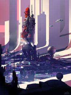ArtStation - Spaceport Galaxy, sparth - nicolas bouvier