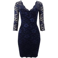 Lipsy Lace Long Sleeve Overlay Dress (110 QAR) ❤ liked on Polyvore featuring dresses, vestidos, kleider, blue, lipsy, navy, navy blue dress, sexy lace dresses, long-sleeve shift dresses and lace shift dress