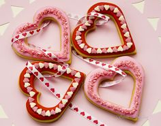Heart cut-out cookies