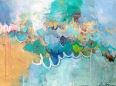 Spring Dances In large abstract painting by Kerri Blackman available through Crate and Barrel in partnership with Ugallery