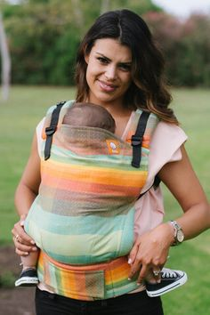 Girasol Double Rainbow (RR) Diamond Weave Azafran TULA BABY CARRIER