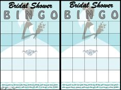 FREE PRINTABLE Bridal Shower BINGO for when Bride is opening gifts, guests write down gifts from the registry they think she will get and when she opens them the guest marks it off, first to get a BINGO line wins a prize. Makes the hours of opening gifts at large showers fun!