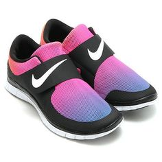Nike Free Socfly SD Tie Dye Gradient Black White Pink Flash 724766-005 1384826ca