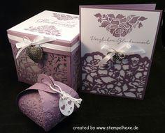 set Hochzeit Windlicht karte geschenk stampin