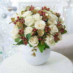 Designer Gold Leaf - Christmas Flowers - Shop by Range - Flowers