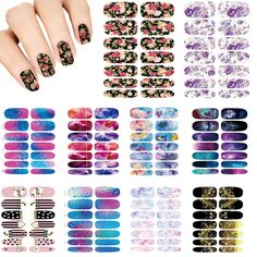 10PCS Nails Art Lot flower Mystery Galaxies Design stickers for nails Manicure Decor Nail Stickers Wraps Water Sticker Decals-in Stickers & Decals from Beauty & Health on Aliexpress.com | Alibaba Group