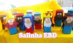 Salinha EBD: Personagens avulsos para histórias Bible Games, Bible Activities, Sunday School Activities, Sunday School Crafts, Recycled Crafts, Stop Motion, Puppets, Children, Kids