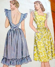 Just added this vintage Pinafore Dress in the shop! Vintage Lavender Petals Pinafore Dress And just for a bit of reference. 1950s Dress Patterns, Dress Making Patterns, Vintage Sewing Patterns, Vintage Outfits, Retro Outfits, Vintage Dresses, Vintage Clothing, Pinafore Dress Outfit, Pinafore Dress Pattern
