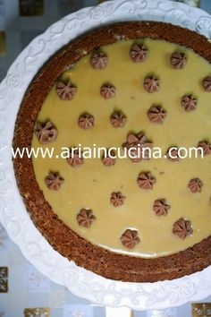 Blog di cucina di Aria: Crostata morbida al cappuccino