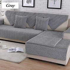 DW&HX Soft suede Strapless Heavyweight Sofa slipcover Furniture protector,Perfect for pets and kids 3 seats Non-slip Quilted sofa protector -D Sectional Couch Cover, Sofa Cushion Covers, Couch Covers, Dog Couch Cover, Furniture Covers, Sofa Furniture, Luxury Furniture, Furniture Outlet, Furniture Stores