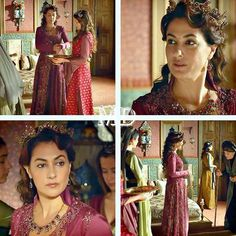 Fatma sultan settling in the palace. That was actually before was everyone bitching about her being annoying and stealing Hürrem's dress (Seriosly?! That's your biggest problem with her?! Not all those murderous plots and stupid pranks she played on Mihrimah?!)